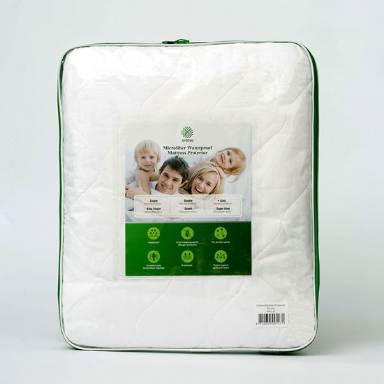 """Picture of """"SHENG"""" Waterproof Microfibre Mattress Protector"""
