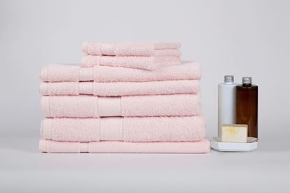 """Picture of """"MILDTOUCH"""" 100% Combed Cotton 7PC Bath Sheet Set"""