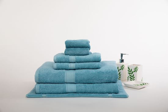 """Picture of """"MILDTOUCH"""" 100% Egyptian Cotton 7PC Bath Sheet Set"""